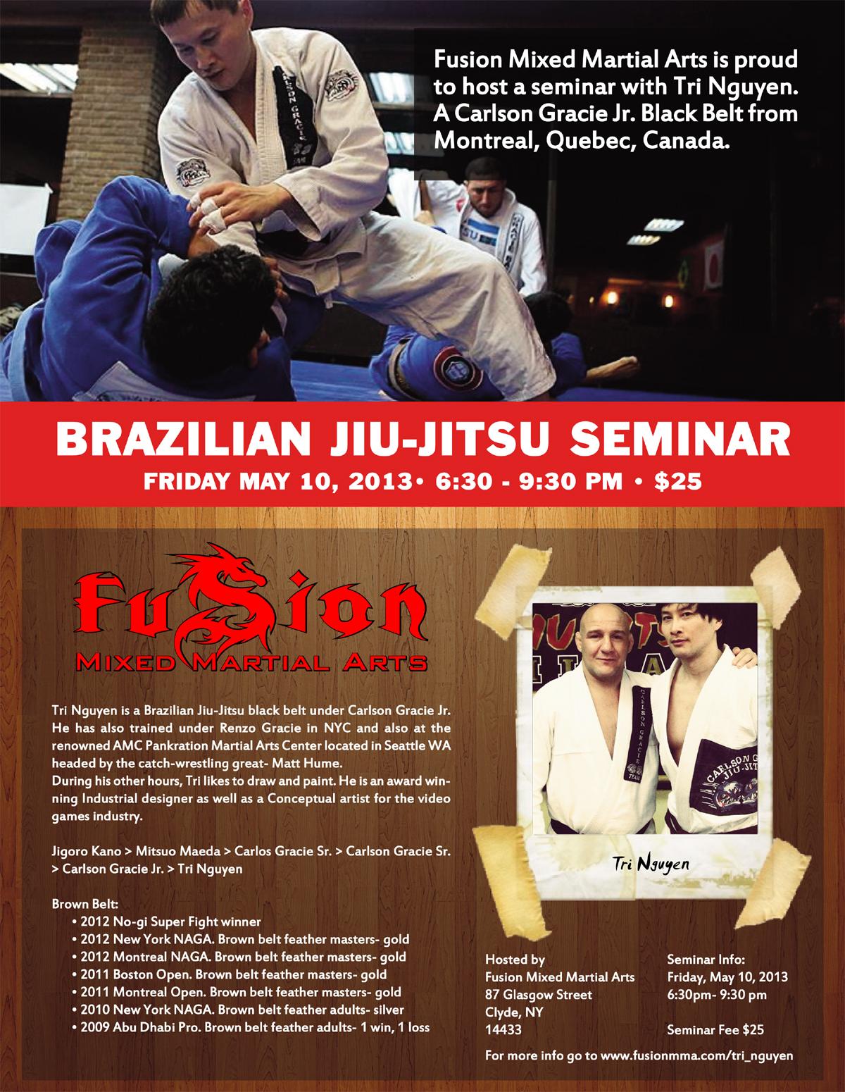 Brazilian JiuJitsu Seminar Flyer Creative Farm Design – Seminar Flyer